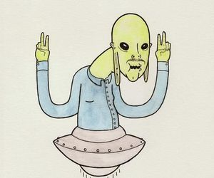 chill, funny, and alien image