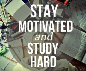 school, study, and motivated image