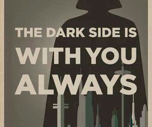 dark side, star wars, and darth vader image
