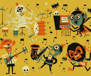 Halloween and music image
