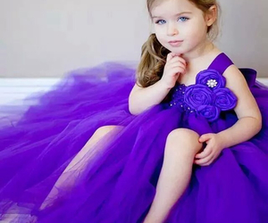 baby, dress, and purple image