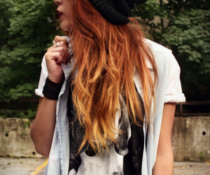 beanie, hair, and hipster image