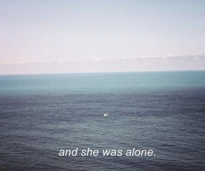 alone, sea, and quotes image