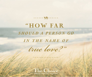 nicholas sparks, quote, and the choice image