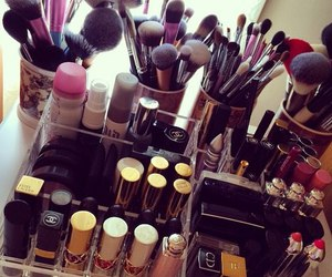 make up, makeup, and lipstick image