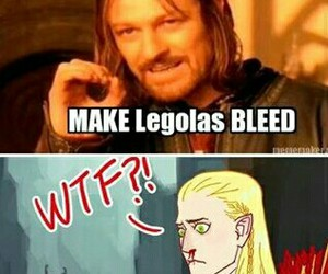 blood, dos, and Legolas image