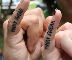 tattoo, pinky swear, and fingers image