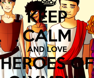 keep calm, Leo, and percy jackson image