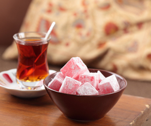 tea, turkish delight, and photography image