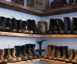 boots, heart, and vintage image