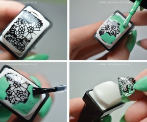 black, girly, and green image