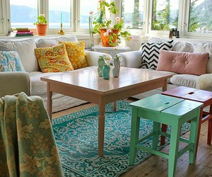 decor, interiors, and beach cottage image