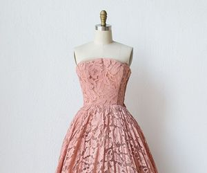 dress, pink, and fashion image