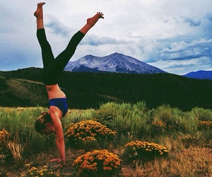 girl, fit, and nature image