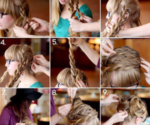 hair, how to, and pretty image