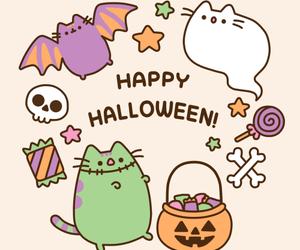 Halloween, pusheen, and cat image
