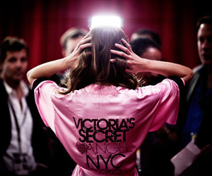 Victoria's Secret, pink, and angel image