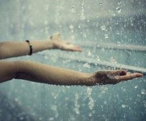 feel, hands, and rain image