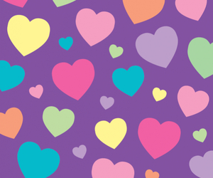wallpaper, cute, and heart image
