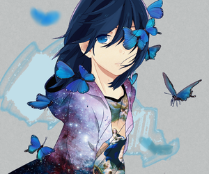 anime, art, and butterflies image