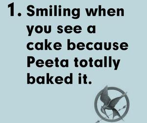 cake, katniss, and smile image