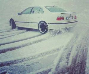 bmw, drift, and snow image