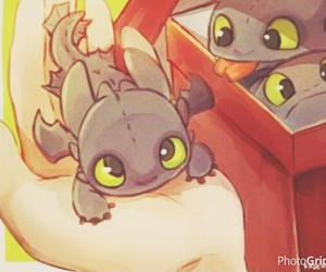 baby, toothless, and cute image