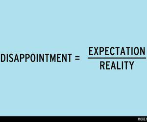 reality, expectation, and text image
