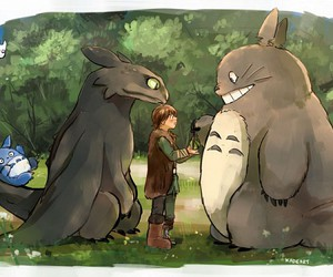 totoro and toothless image