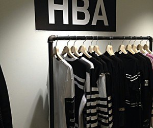 hba, black and white, and clothing image