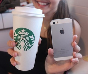 starbucks, girly, and iphone image