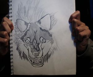 drawing and werewolf image