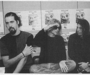 nirvana, kurt cobain, and krist novoselic image