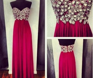 dress, red, and diamond image
