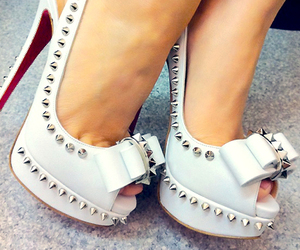 fashion, heels, and studded image