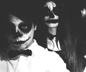 black, blackandwhite, and Halloween image