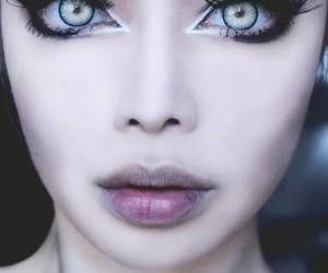 eyes, make up, and lips image