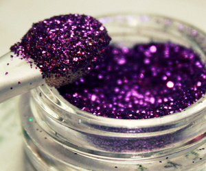 glitter, purple, and makeup image