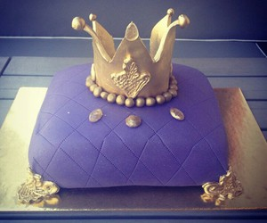 cake, crown, and delicious image