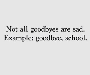 school, goodbye, and sad image