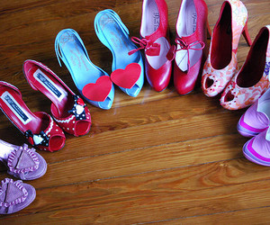 shoes, heels, and heart image