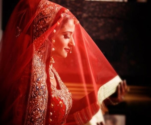 bride, wedding, and indian image