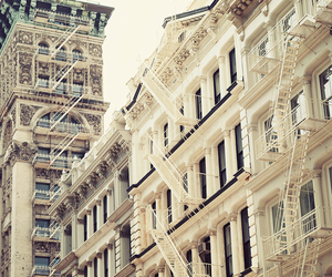 building, new york, and photography image