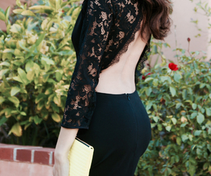 black, lace, and style image