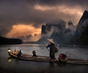 boat, travel, and asia image
