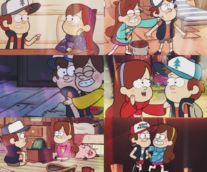 funny, scenes, and cartoon couple image