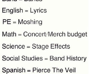 band, pierce the veil, and school image