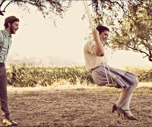love, swing, and vintage image
