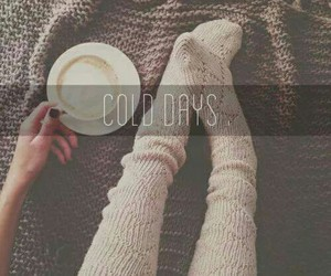 cold, winter, and coffee image