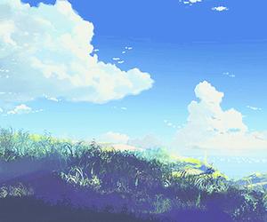 anime, scenery, and sky image